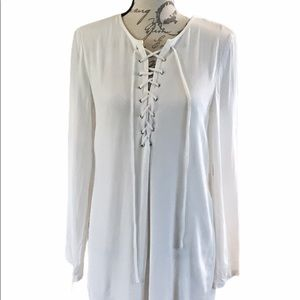 Forever 21 size small tunic Blouse white lovely